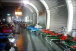 Schiphol camp beds, foto BBC