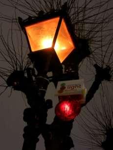 le lanterne per segnalare il percorso